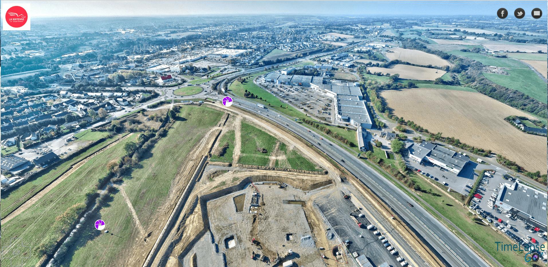 La Mayenne Vue Aérienne par Drones