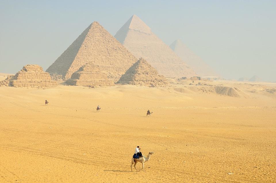 Pyramides de Gizeh en Égypte
