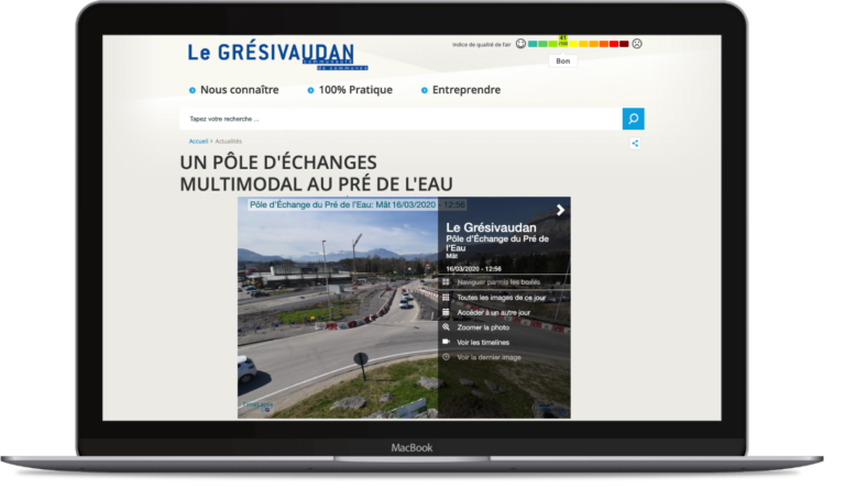 Exemple d'integration cliente de l'interface de suivi (iframe) du Grésivaudan