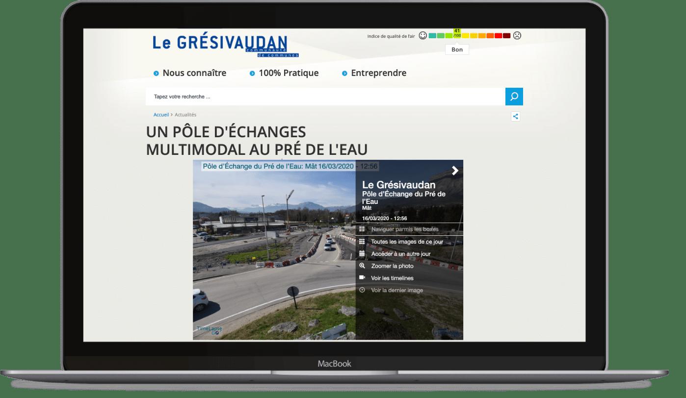Exemple d'integration cliente de l'interface de suivi (iframe) du Grésivaudan