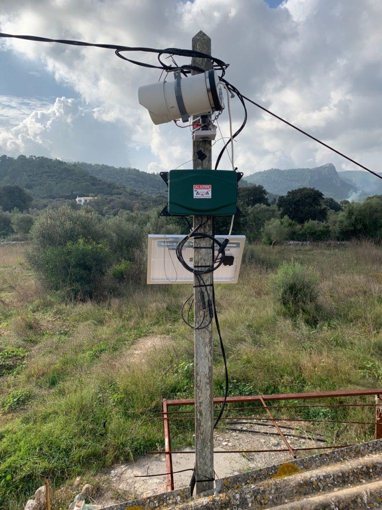 Photographique d'une box TimeLapse Go' pour le suivi de chantier installée à Majorque